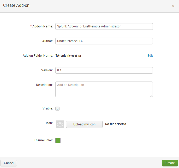 Splunk Add-on for Eset Remote Administrator | UnderDefense