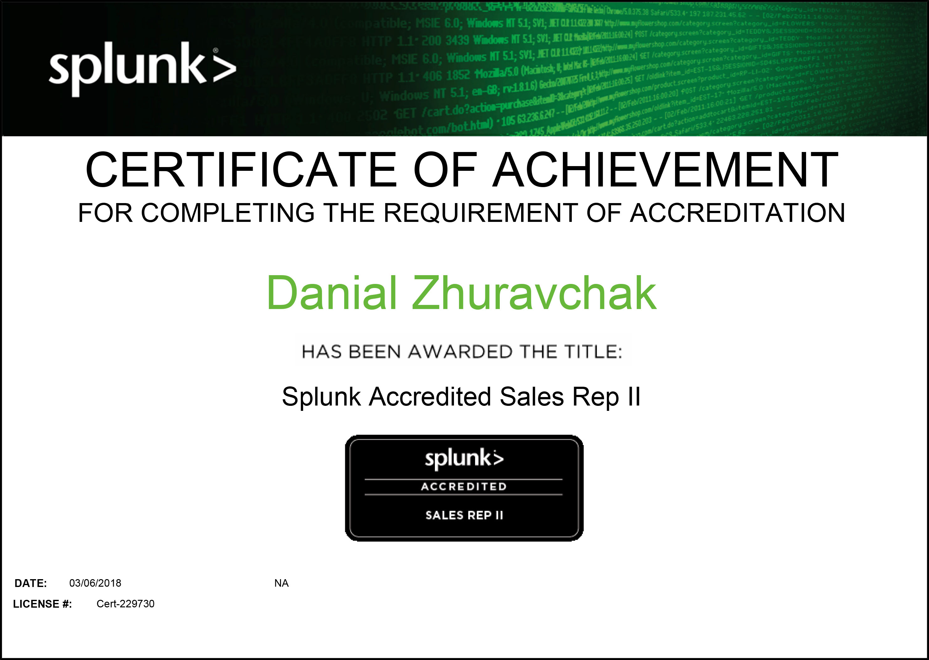 Underdefense S Engineer Unlocked Splunk Certifications