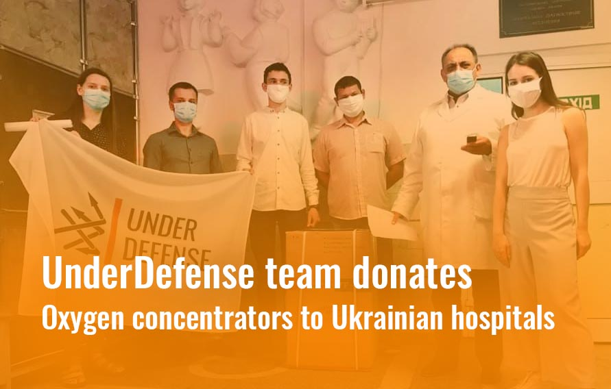 Battling offline viruses: UnderDefense team donates oxygen concentrators to Ukrainian hospitals
